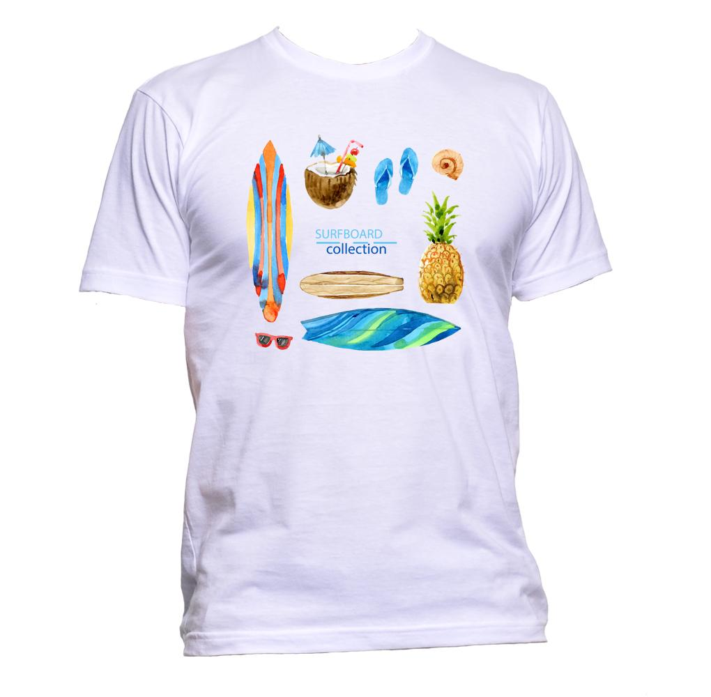 AppleWormDesign • Surfboard Collection gift - Men's T-Shirt •