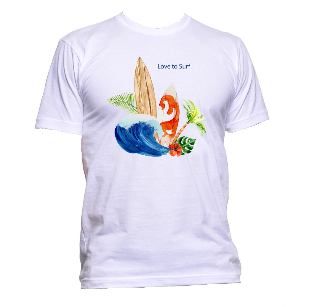 AppleWormDesign • Love To Surf gift - Men's T-Shirt •