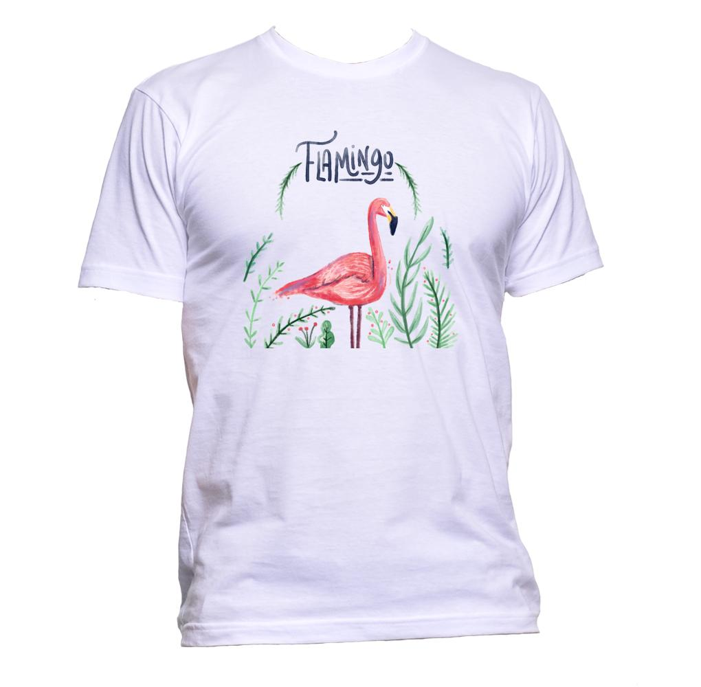 AppleWormDesign • Watercolour Flamingo gift - Men's T-Shirt •