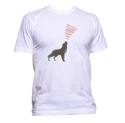 AppleWormDesign • Wolf Spring Drawing gift - Men's T-Shirt •