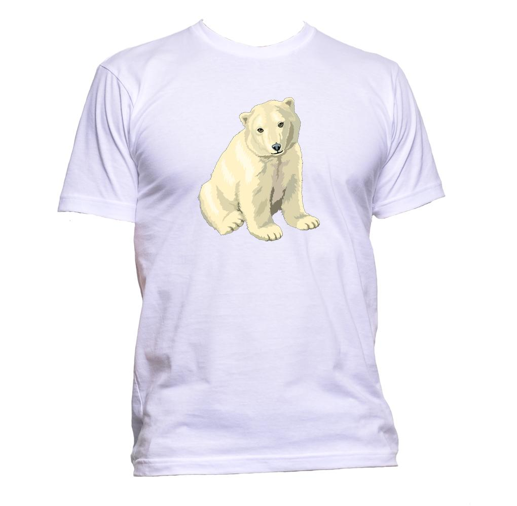 AppleWormDesign • Baby Polar Bear gift - Men's T-Shirt •