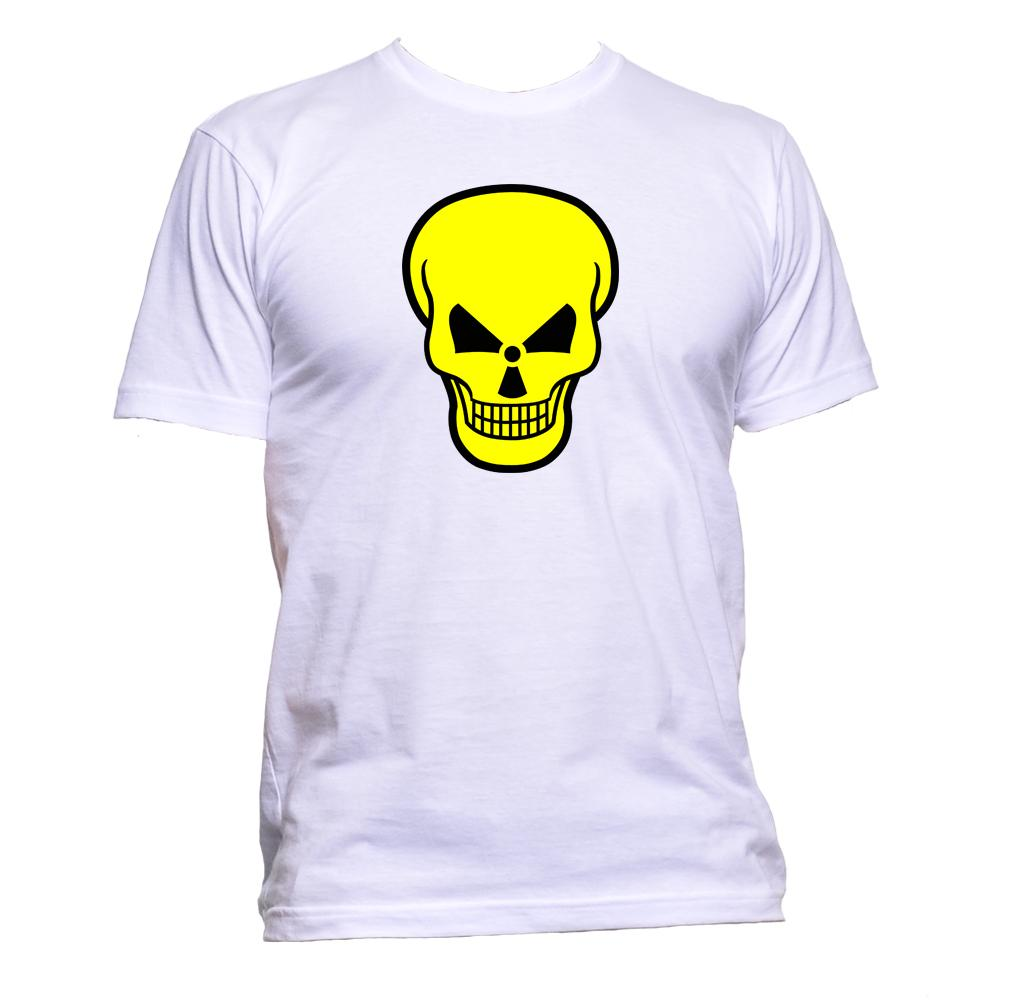 AppleWormDesign • Nuclear Sign Skull gift - Men's T-Shirt •