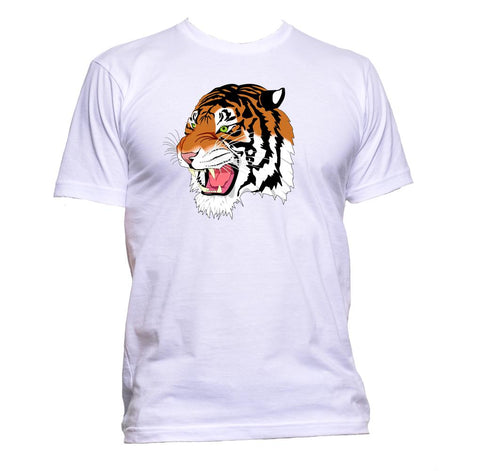 AppleWormDesign • Wildlife Tiger Head Drawing gift - Men's T-Shirt •