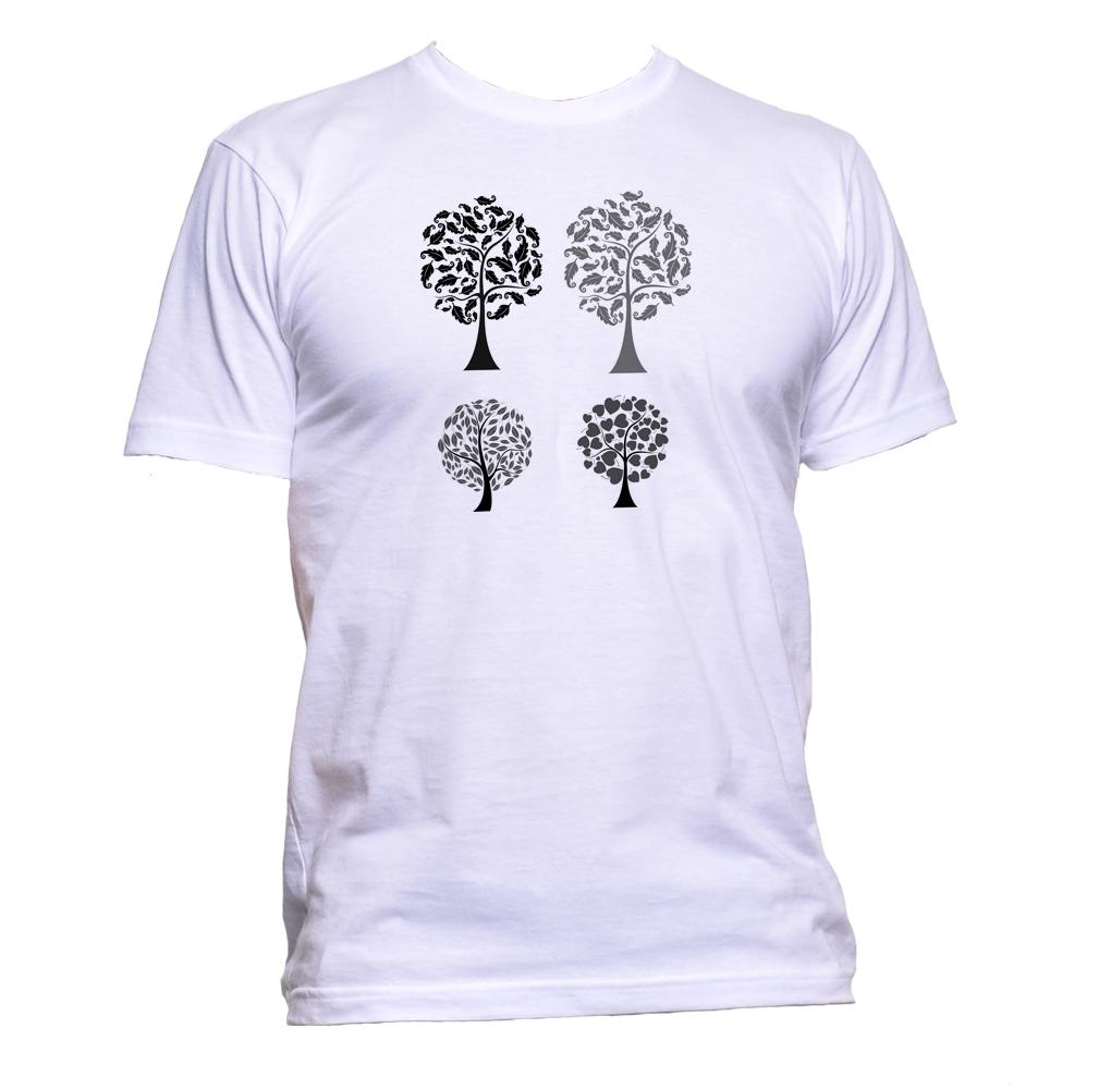 AppleWormDesign • Ethnic Tree Drawing gift - Men's T-Shirt •