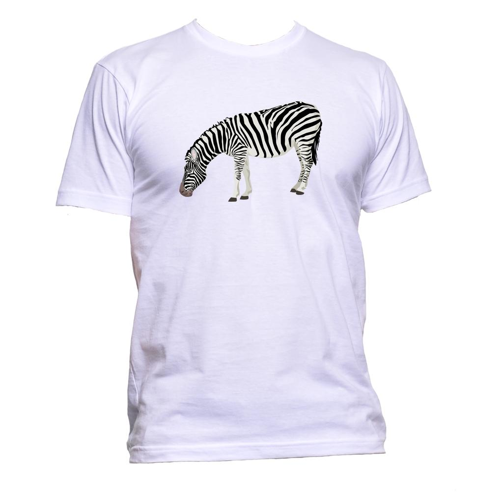AppleWormDesign • Zebra Animal gift - Men's T-Shirt •