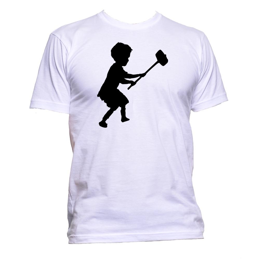 AppleWormDesign • Banksy Hammer Boy gift - Men's T-Shirt •