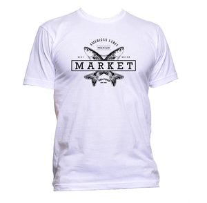AppleWormDesign • American Seafood Market gift - Men's T-Shirt •