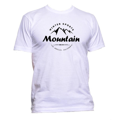 AppleWormDesign • Winter Sports Mountain gift - Men's T-Shirt •