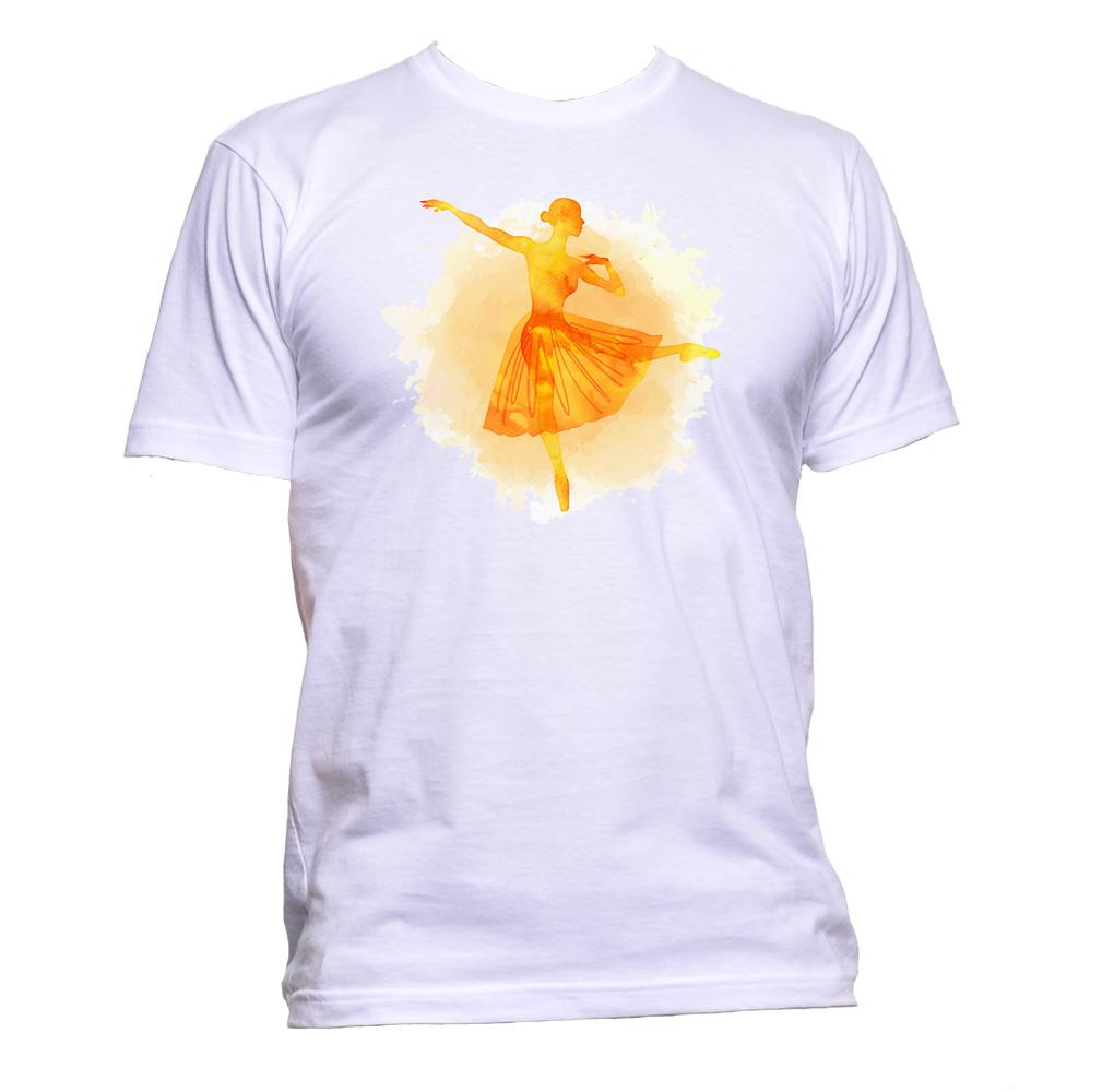 AppleWormDesign • Watercolour Ballerina gift - Men's T-Shirt •