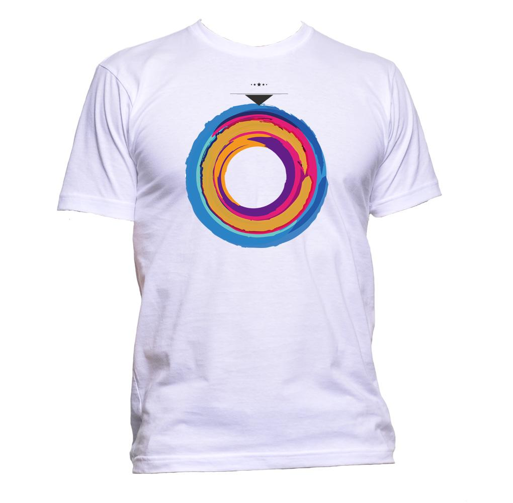 AppleWormDesign • Colourful Circle gift - Men's T-Shirt •