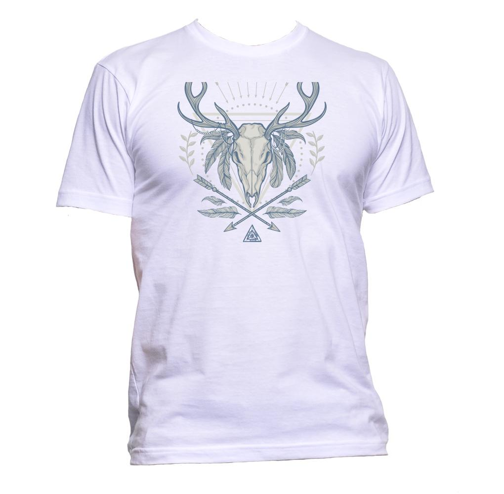 AppleWormDesign • American Indian Deer Skull gift - Men's T-Shirt •