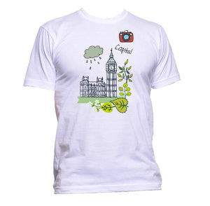 AppleWormDesign • London Big Ben Capital Tower Drawing gift - Men's T-Shirt •