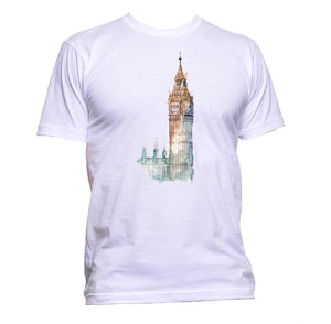 AppleWormDesign • London Big Ben UK Tower Drawing gift - Men's T-Shirt •