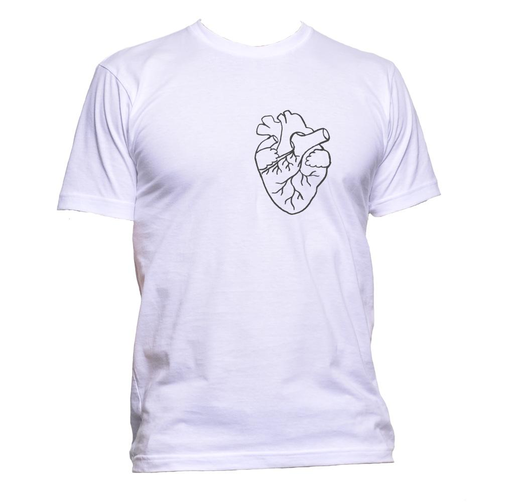 AppleWormDesign • Anatomical White Heart Pocket gift - Men's T-Shirt •