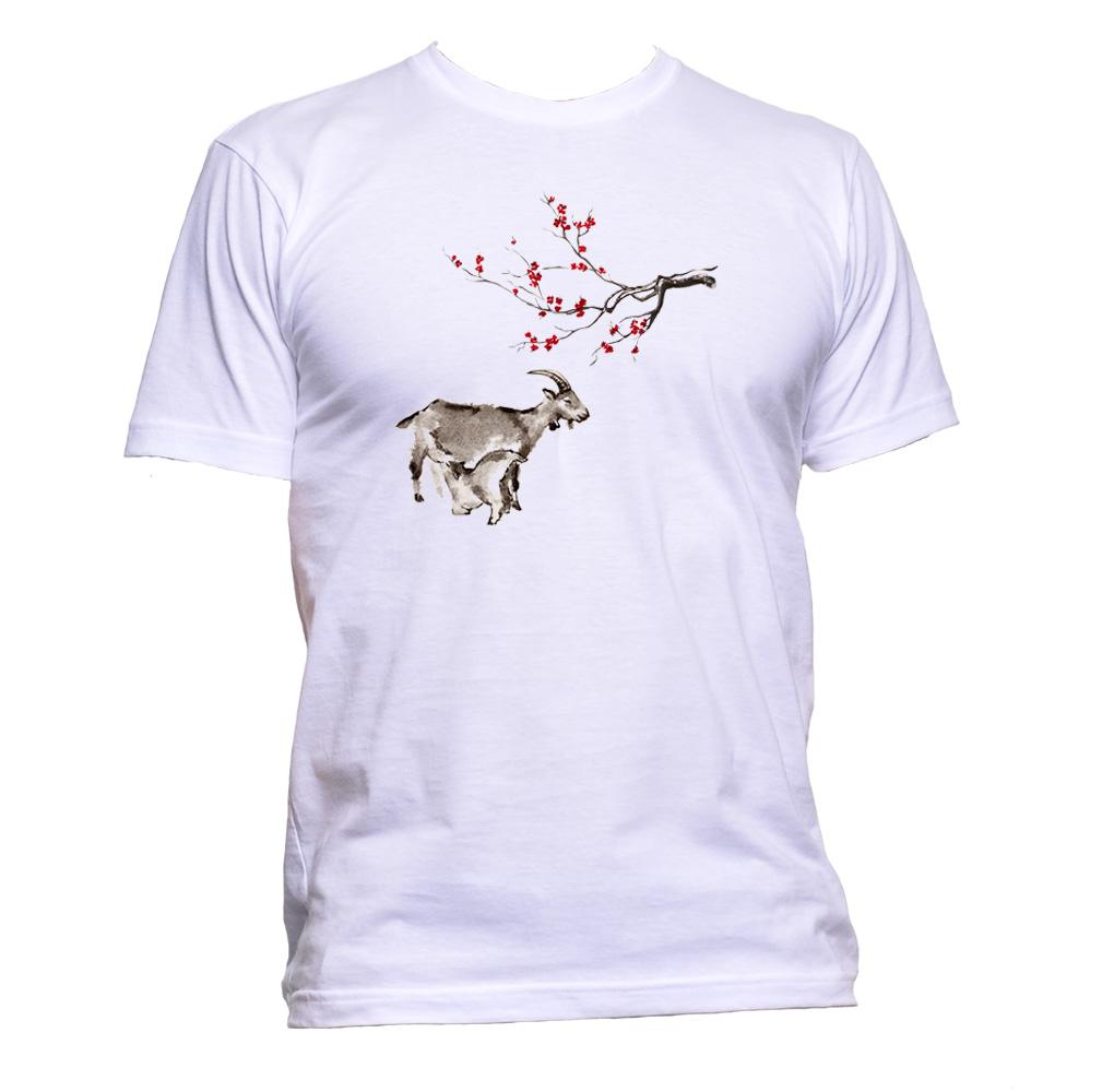 AppleWormDesign • Japan Sakura And Goat gift - Men's T-Shirt •