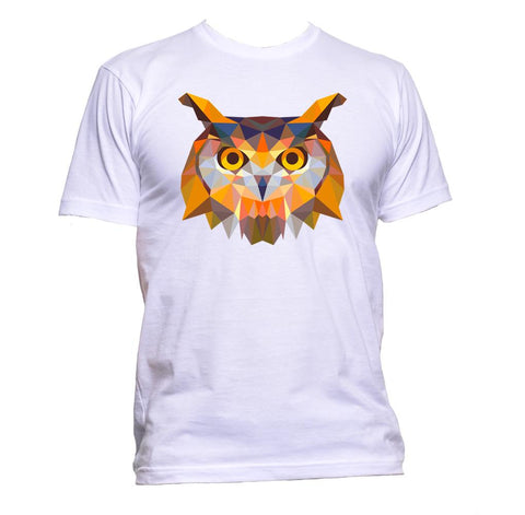 AppleWormDesign • Geometric Owl Head gift - Men's T-Shirt •