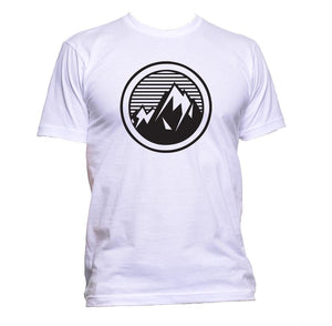 AppleWormDesign • Mountain Circle gift - Men's T-Shirt •
