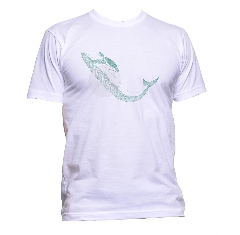 AppleWormDesign • Turtle On Whale With Circle gift - Men's T-Shirt •
