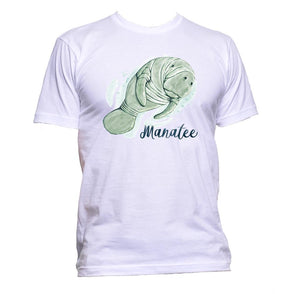 AppleWormDesign • Green Manatee gift - Men's T-Shirt •