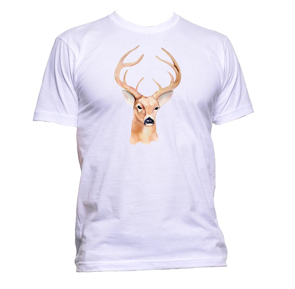AppleWormDesign • Deer Painting gift - Men's T-Shirt •