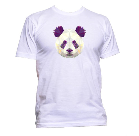 AppleWormDesign • Geometric Panda Head gift - Men's T-Shirt •