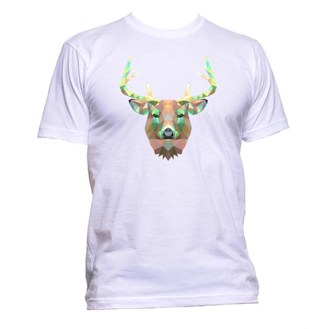 AppleWormDesign • Geometric Deer Head gift - Men's T-Shirt •