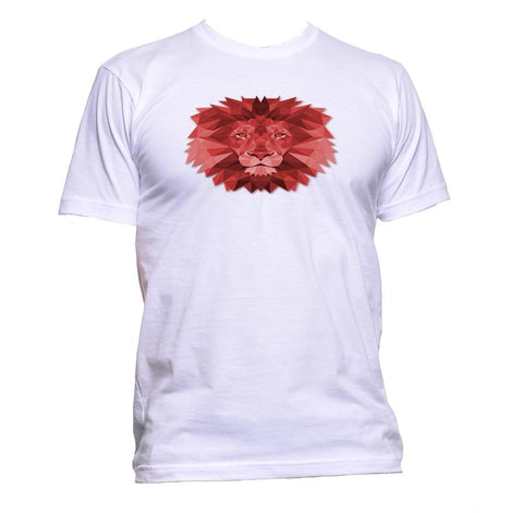 AppleWormDesign • Geometric Lion Head gift - Men's T-Shirt •