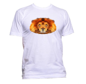 AppleWormDesign • Geometric Lion Head 2 gift - Men's T-Shirt •