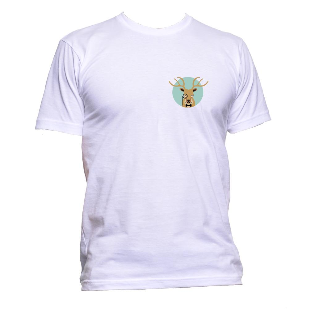 AppleWormDesign • Deer Pocket gift - Men's T-Shirt •