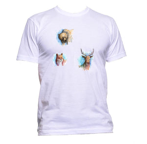 AppleWormDesign • Painted Animals Animal gift - Men's T-Shirt •