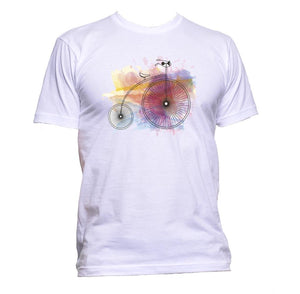 AppleWormDesign • Bike Watercolour gift - Men's T-Shirt •