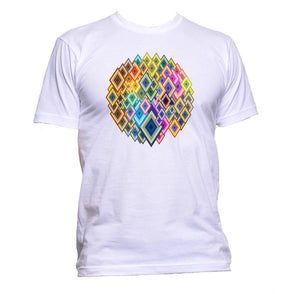 AppleWormDesign • Coloured Geometric Diamonds gift - Men's T-Shirt •