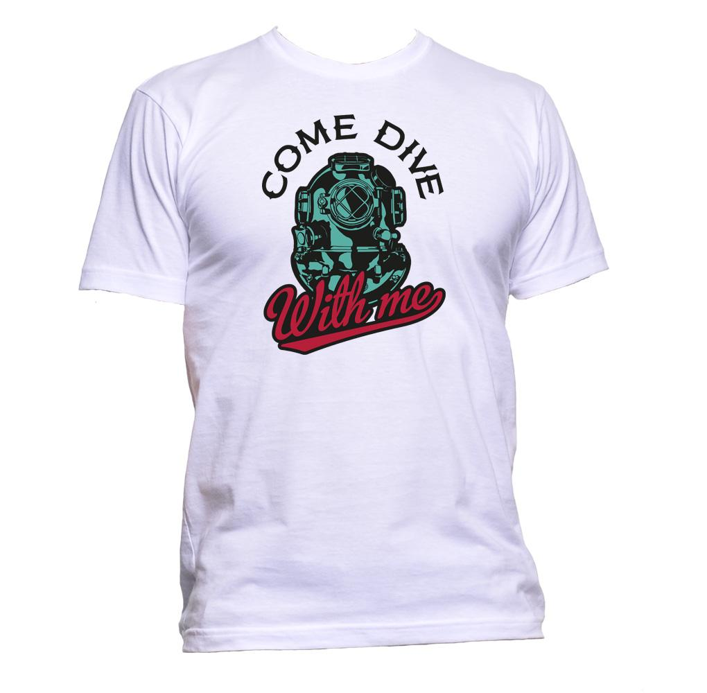AppleWormDesign • Come Dive With Me gift - Men's T-Shirt •