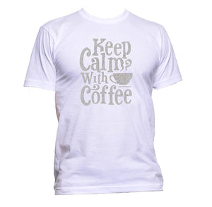AppleWormDesign • Keep Calm With Coffee gift - Men's T-Shirt •
