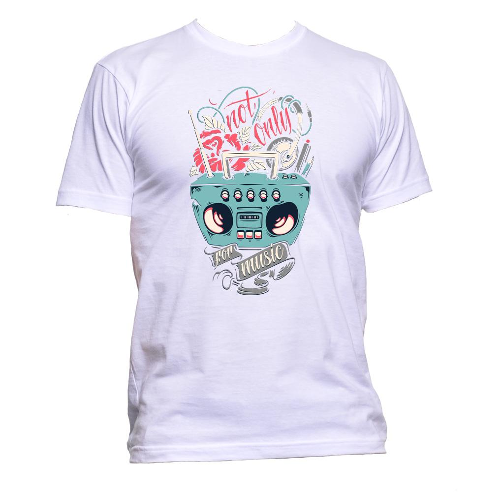 AppleWormDesign • Not Only For Music gift - Men's T-Shirt •