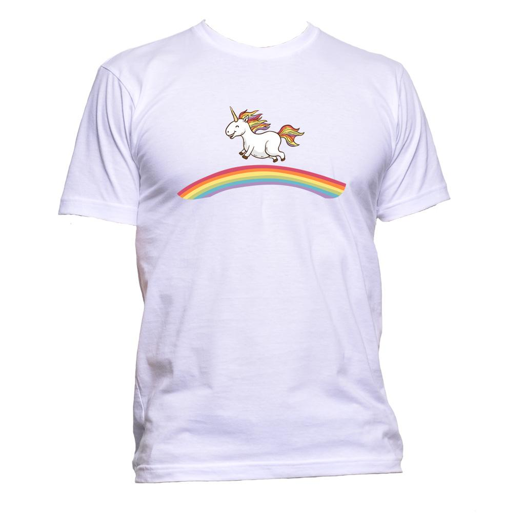AppleWormDesign • Unicorn Rainbow gift - Men's T-Shirt •