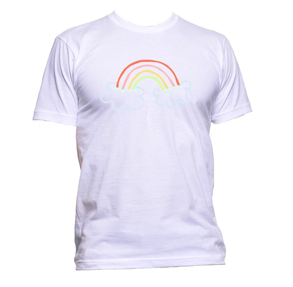 AppleWormDesign • Rainbow Clouds gift - Men's T-Shirt •