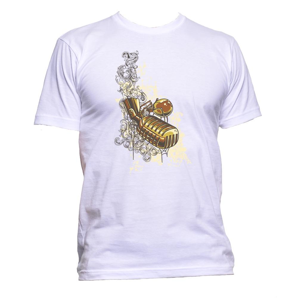 AppleWormDesign • Golden Microphone gift - Men's T-Shirt •