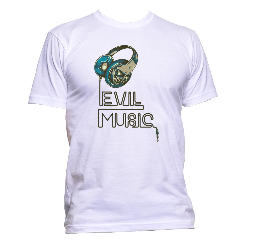 AppleWormDesign • Evil Music gift - Men's T-Shirt •
