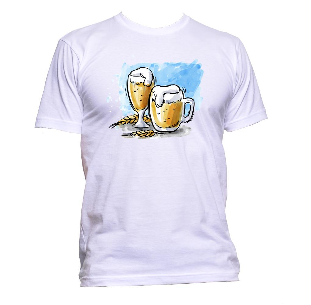AppleWormDesign • Beer Painting gift - Men's T-Shirt •