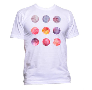 AppleWormDesign • Watercolour Circle Shapes gift - Men's T-Shirt •