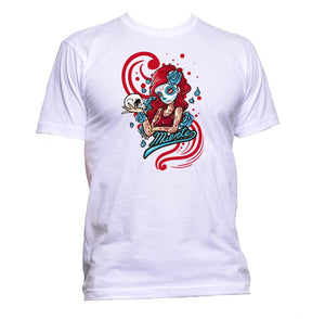 AppleWormDesign • Santa Muerete Queen Mexico gift - Men's T-Shirt •