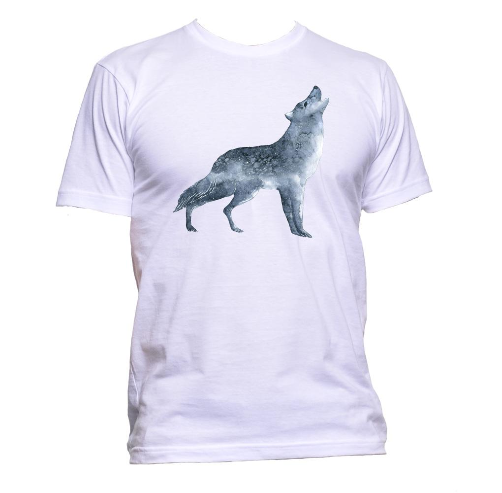 AppleWormDesign • Night Wolf Unisex gift - Men's T-Shirt •