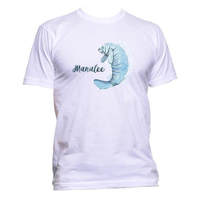 AppleWormDesign • Swimming Blue Manatee gift - Men's T-Shirt •