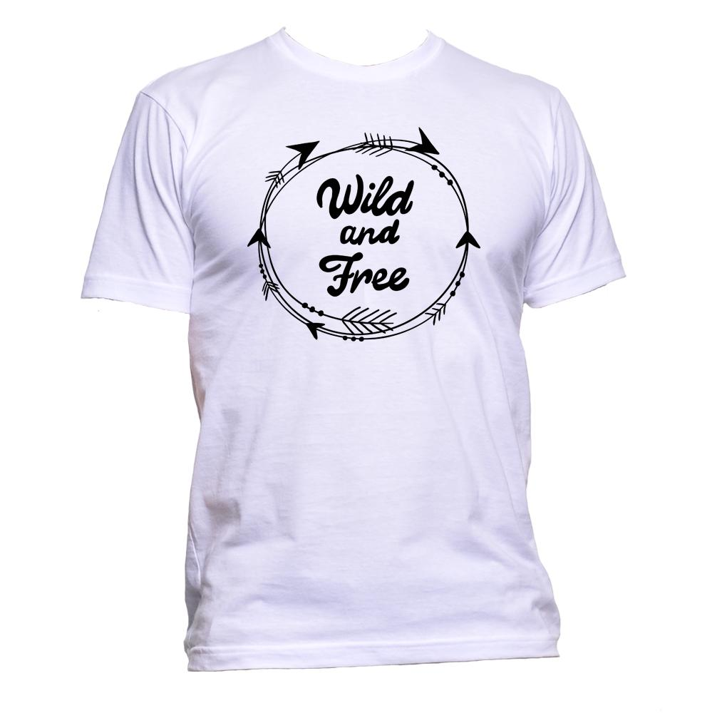 AppleWormDesign • Wild And Free gift - Men's T-Shirt •