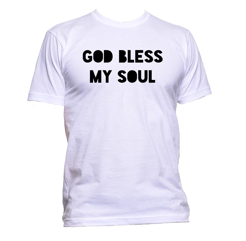 AppleWormDesign • God Bless My Soul gift - Men's T-Shirt •