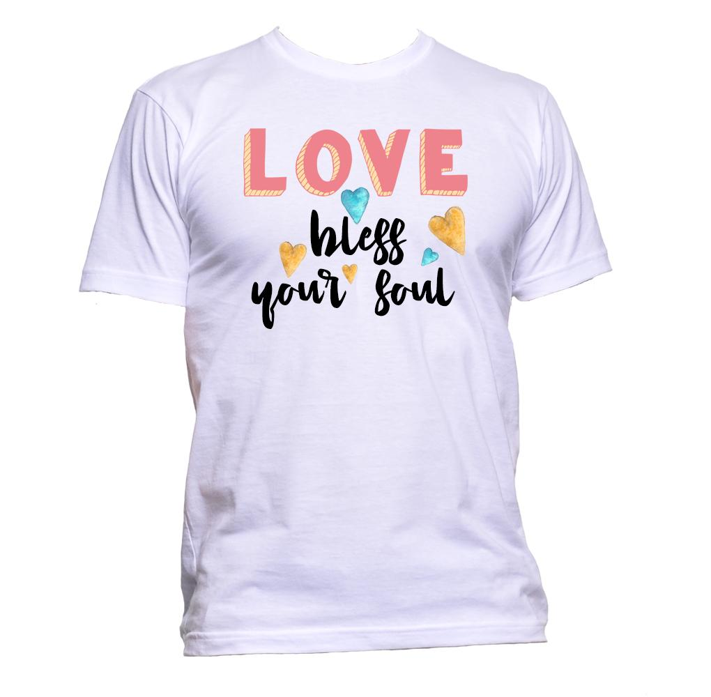 AppleWormDesign • Love Bless Your Soul gift - Men's T-Shirt •