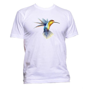 AppleWormDesign • Coloured Hummingbird gift - Men's T-Shirt •