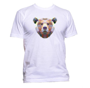 AppleWormDesign • Geometric Bear Head gift - Men's T-Shirt •