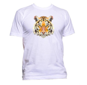 AppleWormDesign • Geometric Tiger Head gift - Men's T-Shirt •